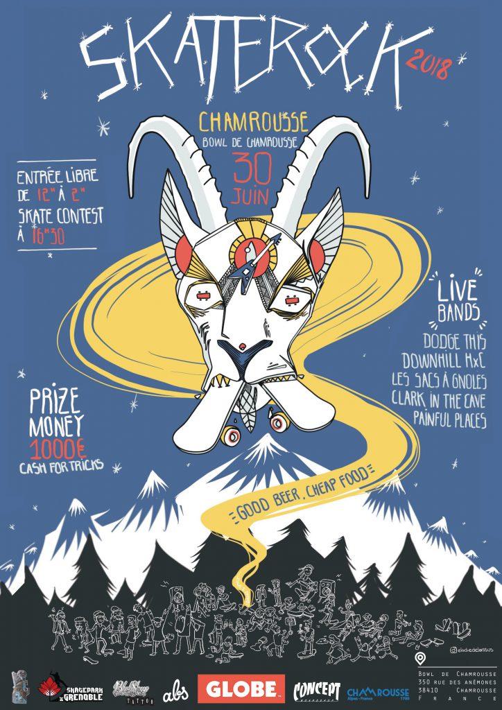 Affiche Skaterock Chamrousse 2018