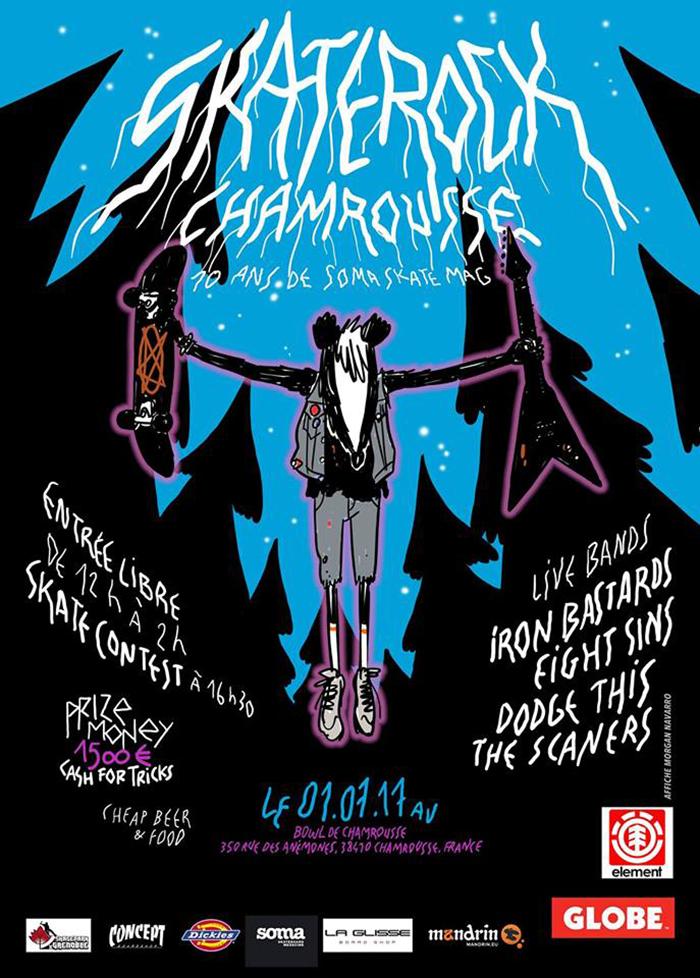Skate Rock 2017 Chamrousse skate contest Skatepark de Grenoble