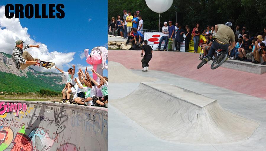 crolles-fontaine skatepark cours Skatepark de Grenoble