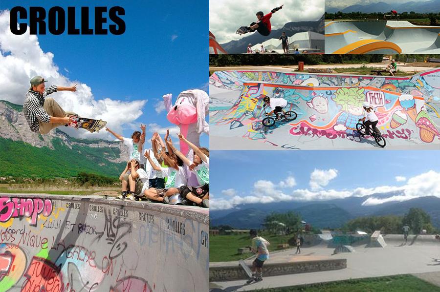 Skatepark de Crolles cours