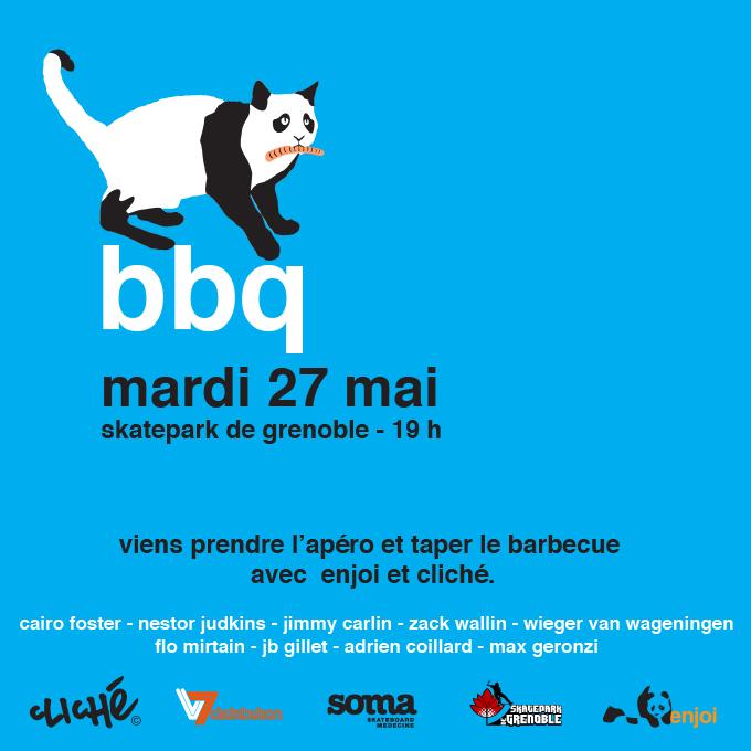 Fly BBQ Enjoi 2014 Skatepark de Grenoble