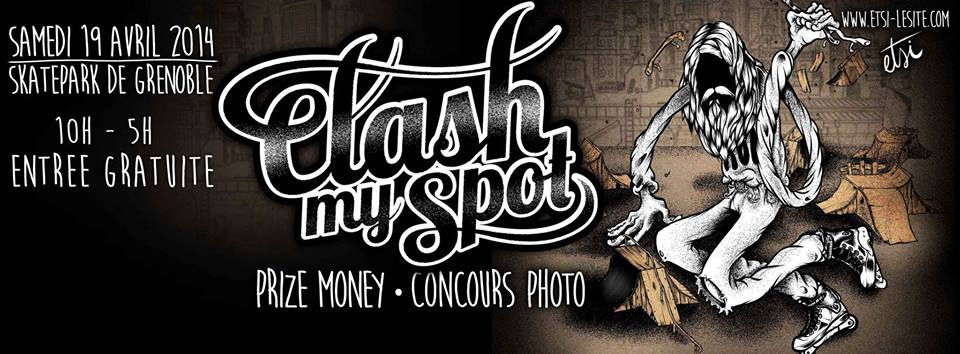 Affiche Clash My Spot roller contest 2014 Skatepark de Grenoble