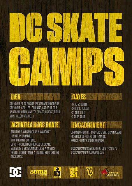 Affiche DC Skate Camp Skatepark de Grenoble