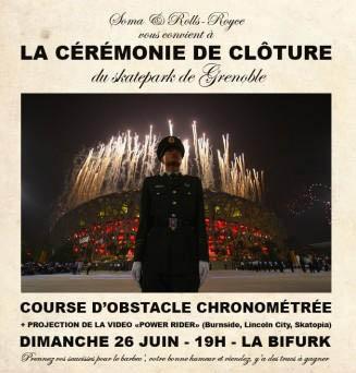 Affiche cérémonie de clôture 2011 Skatepark de Grenoble