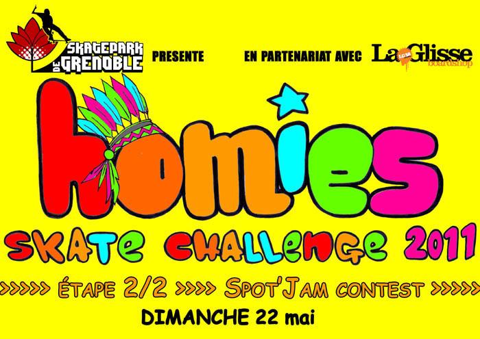 Fly Homies skate challenge 2011 Skatepark de Grenoble
