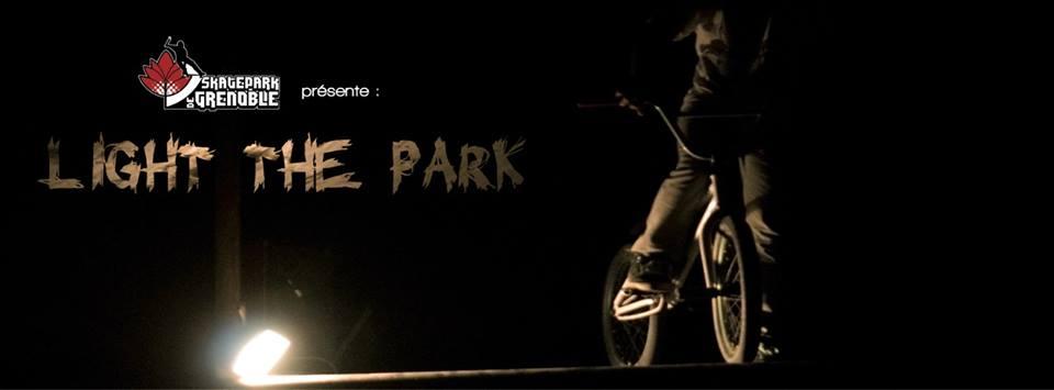 Bannière Light The Park BMX contest 2014 Skatepark de Grenoble