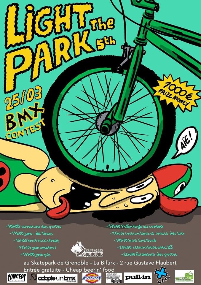 Affiche Light The Park BMX contest 2017