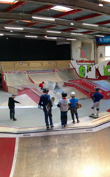 Ecole skate et BMX Skatepark de Grenoble rectangle