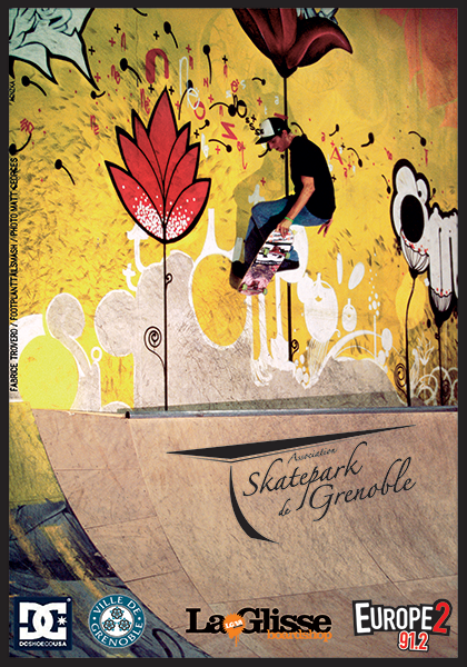 Carte planning Skatepark de Grenoble 2007 - 2008