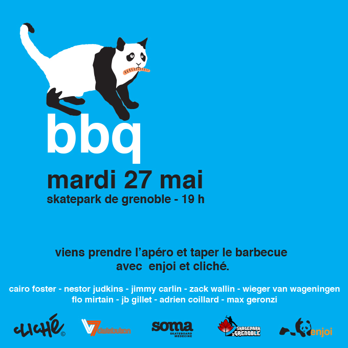Fly BBQ Enjoi 2014 Skatepark de Grenoble