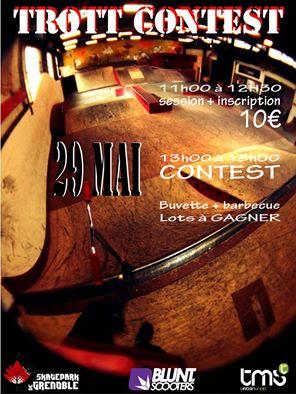 Trott contest affiche Skatepark de Grenoble