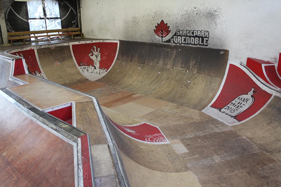 Partie bowl Skatepark de Grenoble