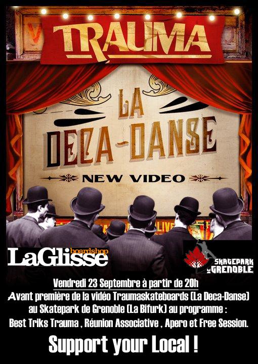 Affiche La Deca-Danse Trauma Skatepark de Grenoble