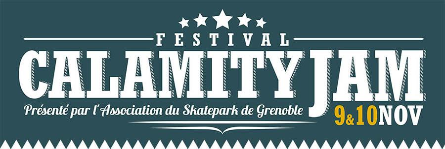 Bannière Calamity Jam Festival 2013 Skatepark de Grenoble