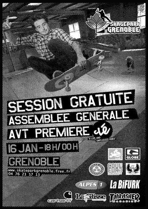 Flyer AG 2009 Skatepark de Grenoble