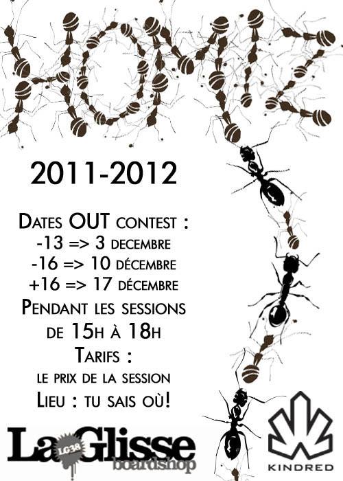 Affiche Homiz skate challenge 2011 2012 Skatepark de Grenoble