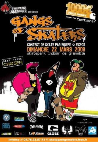Affiche Gangs of Skaters 2009 Skatepark de Grenoble