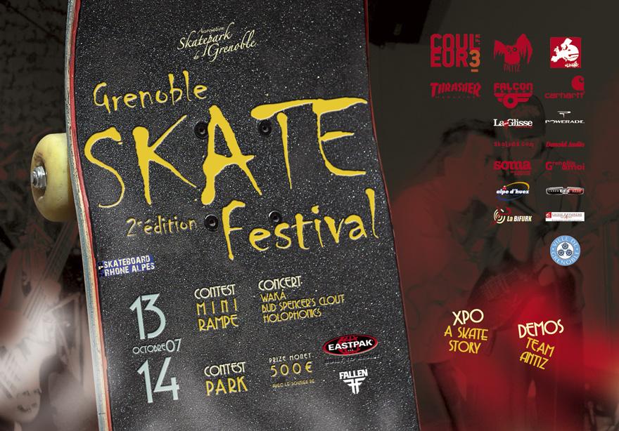Flyer Grenoble skate festival 2008 Skatepark de Grenoble