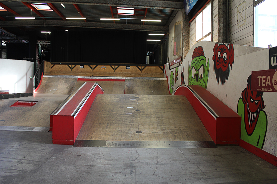 Partie street Skatepark de Grenoble